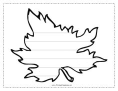 Leaf Writing Template Writing Template  Leaf Template For Writing