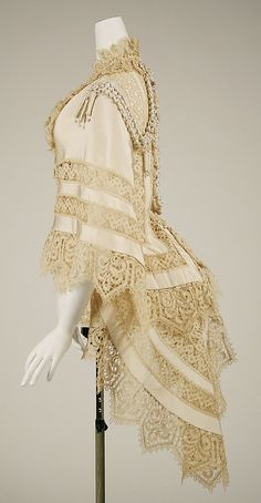 Lace mantle by Jay's of London, 1863. From the Costume Institute at the Met.
