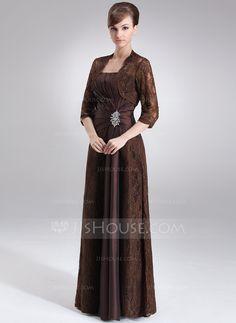 Sheath/Column Strapless Floor-Length Taffeta Lace Mother of the Bride Dress With Ruffle Beading (008006192) - JJsHouse