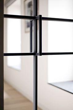 45 Stunning Interior Glass Doors Design IdeasStunning Interior Glass Doors Design Ideas to Choosing A Glass Door Design Fit Your House Steel Doors And Windows, Steel Frame Doors, Metal Doors, Door Design, House Design, Casa Loft, Door Detail, Types Of Doors, Room Doors