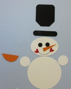 Punch art snowman.