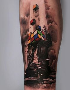 Geniuses with a high result on IQ test will be glad to take this tattoo.