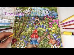 Time-Lapse Coloring - Into The Garden   Menuet De Bonheur Coloring Book - YouTube