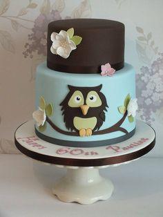 Owl Cake - by cakesbylouise @ CakesDecor.com - cake decorating website