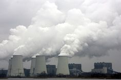 exhaust from cooling towers of coal stations