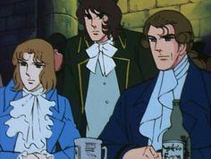 Lady Oscar (Versailles no Bara) : Saint-Just, Robespierre et Bernard Châtelet