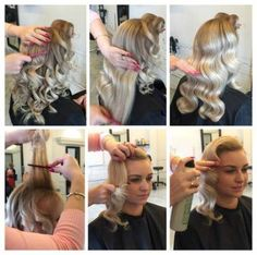 Simple Hollywood Waves // Miss Victory Violet - Hair Styles 2019 Old Hollywood Hair, Hollywood Curls, Hollywood Glamour Hair, Bob Hair, Hair Dos, Curly Hair, Short Hair, Vintage Wedding Hair, Wedding Hair And Makeup