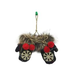 Maker's Holiday Plaid Mittens Ornament