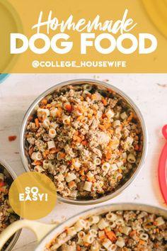 Make Dog Food, Best Dog Food, Homemade Food For Dogs, Pet Food, Homemade Recipe, Food Food, Dog Treat Recipes, Dog Food Recipes, Cooker Dog