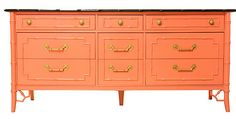 Painted faux bamboo furniture