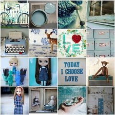 Today I love: Blue Collage