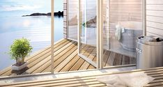 """Prefab beach house from Sommarnöjen, """"Small house. Prefab Cabins, Prefab Homes, Swedish House, Furniture For Small Spaces, Coastal Homes, Hygge, Beach House, House Ideas, Cottage"""