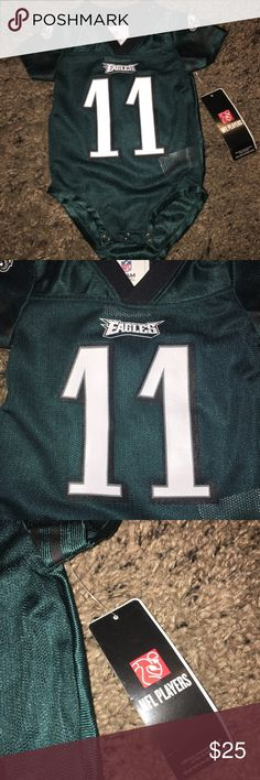 Equals Carson Wentz infant romper jersey sz: 3/6 M Thank you for viewing my listing, for sale is a Philadelphia Eagles, green, short sleeve, one piece, Carson Wentz jersey romper.  Item is brand new with tags, never worn. If you have any questions or would like additional photos please feel free to ask.  Sz: 3/6 months NFL Shirts & Tops Tees - Short Sleeve