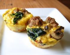 "#Whole30 Breakfast ""muffins"" with a sweet potato base"