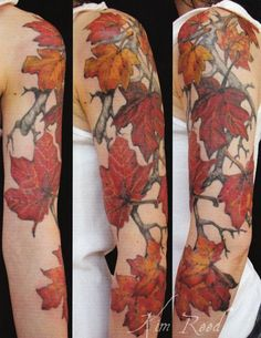 http://tattoomagz.com/amazing-autumn-style-tattoos/gorgeous-shoulder-autummn-leafs-tattoos/