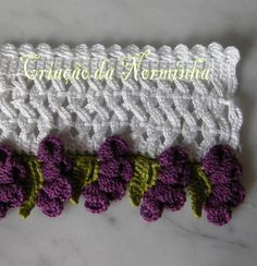 """Crochet Tutorial: """"amarrado a prenda a ponta"""" - maomao - minha ação coração"""
