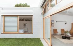 The Design Files - A Total Transformation For This Pocket-Sized Heritage Home. Australian Interior Design, Australian Architecture, Architecture Design, Timber Windows, The Design Files, Architect House, Built Environment, Scandinavian Home, House Goals