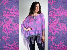 Prism of Threads Cosmic Silk Fringe Blouse by PrismOfThreads, $68.00