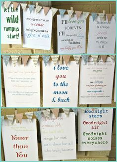 Children's Books Quotes: can make a game to have guests guess what book the quote game from, or like a Taboo/ Catch Phrase type book game