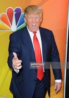 Donald Trump arrives at NBCUniversal's 2015 Winter TCA Tour - Day 2 at The Langham Huntington Hotel and Spa on January 16, 2015 in Pasadena, California.