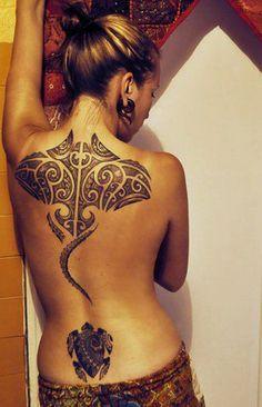 Jahzz   Stingray & Turtle ~ #Polynesian_Tattoo