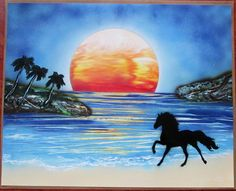 horse spray paint art horse pictures horse painting horse home decor gift for kids  by FloralFantasyDreams