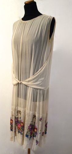 Lanvin Attributed 1920s Dress. Front