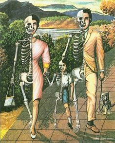 #illustration #bones #family