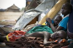 Children displaced by fighting in Bor rest upon arriving in Mingkaman refugee camp in South Sudan March REUTERS/Kate Holt/UNICEF/Handout Organisation Des Nations Unies, Human Rights, Believe, Product Launch, Children, Celebrities, People, Sudan, Helicopters