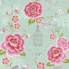 Birds in Paradise Green 313013 - Seinäruusu - Verkkokauppa