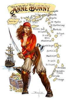 Sexy Anne Bonny - Famous Female Irish Pirate, who used the Virgin Islands as her. - Sexy Anne Bonny – Famous Female Irish Pirate, who used the Virgin Islands as her hideout & a plac - Pirate Day, Pirate Wench, Pirate Woman, Pirate Life, Pirate Halloween, Pirate Theme, Anne Bonny, Pirate Quotes, Pirate History