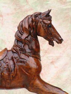 rocking horse - #equine #carving