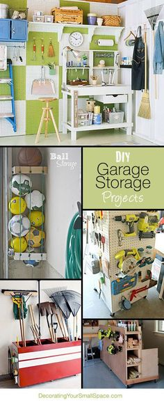 DIY Garage Storage Projects & Ideas! organization ideas #organization #organized