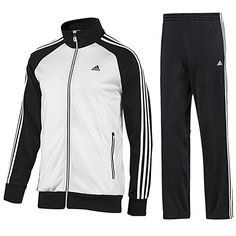 Adidas Mens Tracksuit JogSuit 3S Riberio Retro Black/White Navy/Red S- 4XL