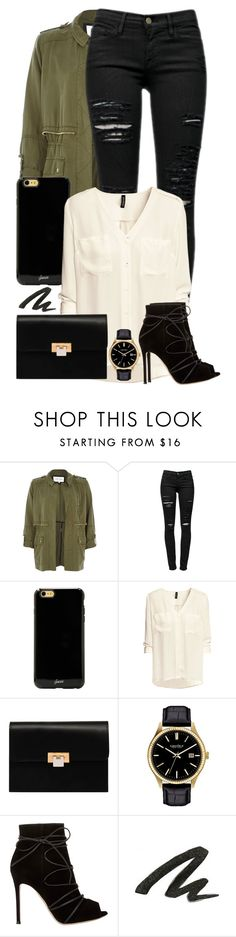 """""""#13"""" by oneandonlyfashion ❤ liked on Polyvore featuring River Island, Frame Denim, Sonix, H&M, Balenciaga, Caravelle by Bulova, Gianvito Rossi and Urban Decay"""
