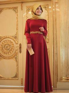 Plaine Robe brodée - Rouge - Pinar Sems