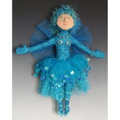 Ballerina Angel Art Doll turquoise dancer by angelartdolls on Etsy