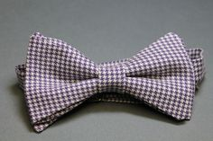 handmade cotton bow tie - houndstooth by ScovillDesign on Etsy