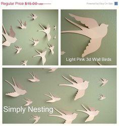 ????? ???? - make my day - ???? ??????  sc 1 st  Pinterest & 3d Bird wall Art Black wall art Paper birds by MyDreamDecors ...