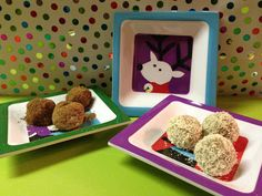 Day #4 - Activity Idea: Make Christmas Dog Treats for your furry friends - like these dog-friendly coal and snow balls.
