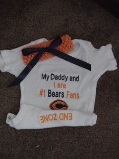 Chicago Bears Football Baby Infant Newborn by Embroideryworld, $28.99