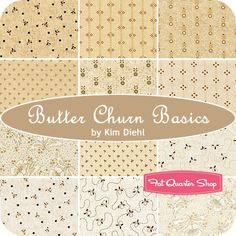 Butter Churn Basics Fat Quarter BundleKim Diehl for Henry Glass Fabrics - Fat Quarter Bundles | Fat Quarter Shop