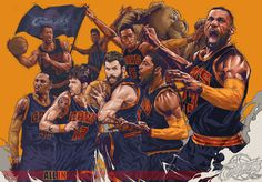 Cleveland Cavaliers '2015 All In' Illustration