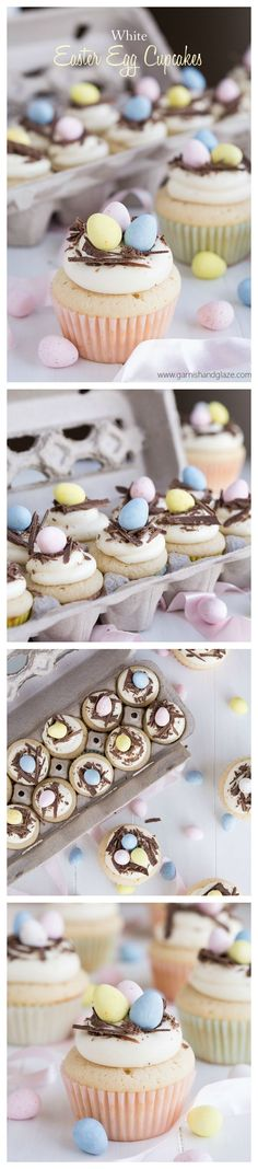 Mini eggs, cupcakes AND white chocolate, what more could you want? If you're looking for something yummy for the Easter holidays, these amazing Easter Egg cupcakes are for you!