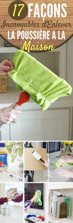 17 façons incroyables d'enlever la poussière à la maison  #maison #trucs #astuces #trucsetastuces #poussière Diy Cleaning Products, Cleaning Hacks, Home Organization Hacks, Tips & Tricks, Green Cleaning, Clean Up, Housekeeping, Clean House, Keep It Cleaner
