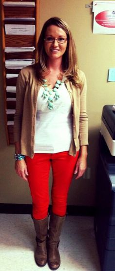 This is a blog from a teacher who takes a picture of what she wears every day. All her clothes are from places real people shop- like Target and Marshall's.