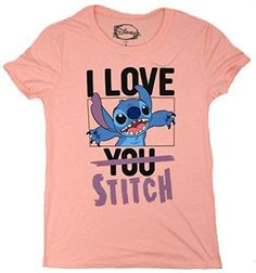 Disney Lilo And Stitch I Love You Juniors T-shirt