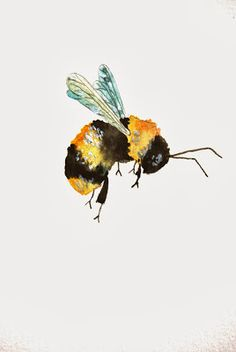Painting in Trees: Bumble Bee - Painting in Trees: Bumble Bee - Bee Painting, Painting & Drawing, Painting Trees, Watercolor Flowers, Watercolor Paintings, Watercolour, Abstract Watercolor, Painting Inspiration, Art Inspo