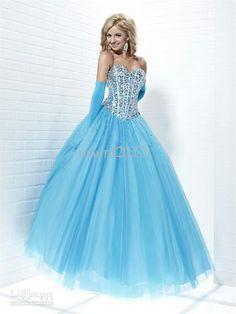 Wow beautiful baby blue dress :)