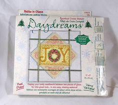 Dimensions Daydreams Joy Counted Cross Stitch Kit  #Dimensions #DaydreamsJoy #CountedCrossStitchKit #Craft  #SuppliesTools  #Patterns  #embroiderykit  #Vintage #Kit